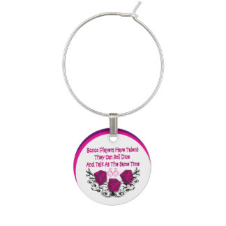 Bunco Players Have Talent by Artinspired Wine Charm
