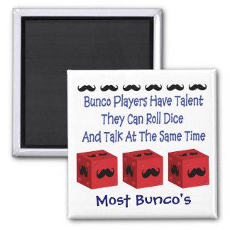 Bunco Players Have Talent Mustache Version Magnet