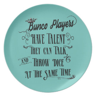 Bunco Players Have Talent With Crown Dinner Plate