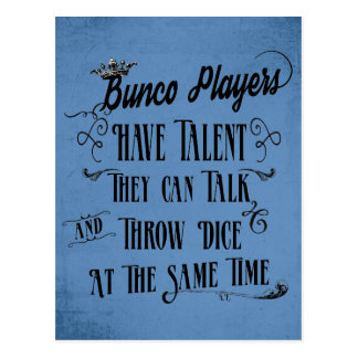 Bunco Players Have Talent With Crown Postcard
