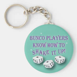 bunco players know how to shake it up 2 basic round button keychain