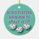 Bunco players know how to shake it up christmas ornaments