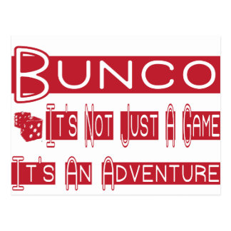 bunco players postcard