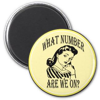 Bunco qué número es nosotros en #2 imán redondo 5 cm
