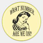 Bunco qué número es nosotros en #2 pegatinas redondas