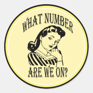 Bunco qué número es nosotros en #2 pegatina redonda