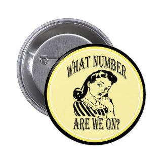 Bunco qué número es nosotros en #2 pin redondo de 2 pulgadas