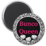 Bunco Queen Classic Design 2 Inch Round Magnet