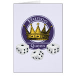 Bunco Queen Crown and Dice Card