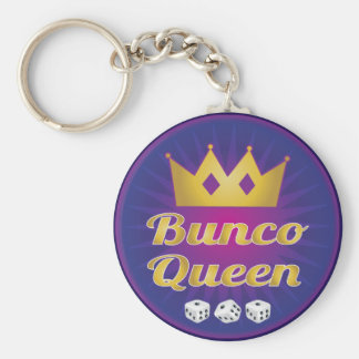 Bunco Queen Crown and Dice Keychain
