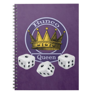 Bunco Queen Crown and Dice Spiral Note Books