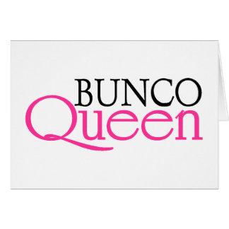 Bunco Queen Greeting Card