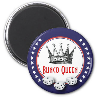 Bunco Queen Magnet Red, White and Blue With Stars