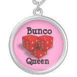 Bunco Queen Round Pendant Necklace