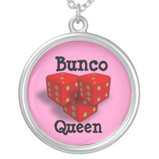 Bunco Queen Silver Plated Necklace