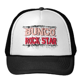 bunco rock star in pink trucker hats