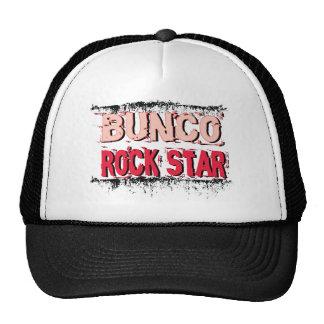 bunco rock star in pink trucker hat