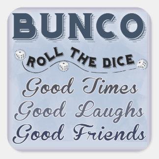 Bunco Roll The Dice Sticker