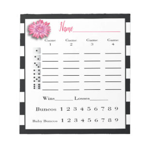 graphic regarding Cute Bunco Score Sheets Printable named Bunco Bouquets Items upon Zazzle