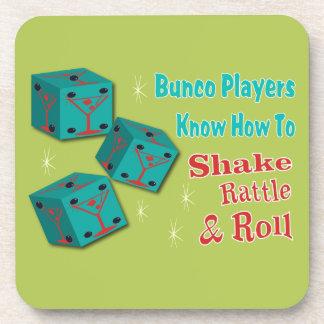 Bunco - Shake, Rattle & Roll Martini Coasters