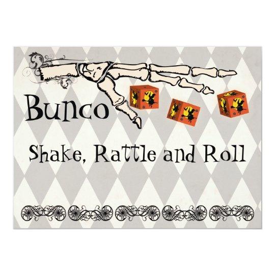 Bunco Skeleton Hand Invitation Zazzle Com