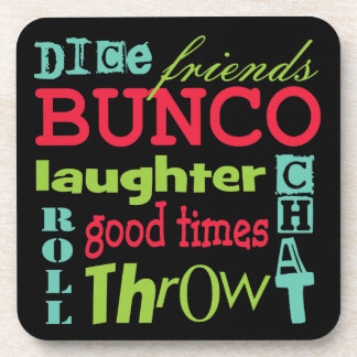 Bunco Subway Art Design By Artinspired Beverage Coasters