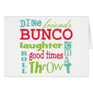 Bunco Subway Art Design By Artinspired Card