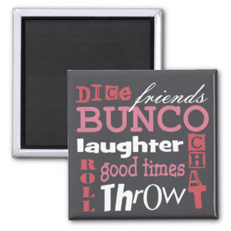 Bunco Subway Art Design By Artinspired 2 Inch Square Magnet