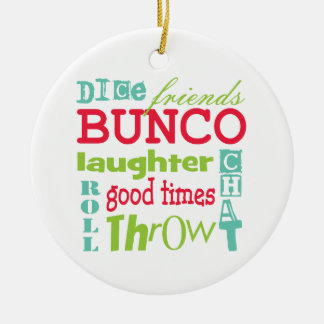 Bunco Subway Art Design By Artinspired Christmas Ornament