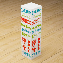 Bunco Subway Art Gift Wine Box