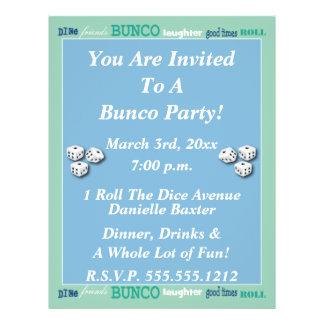 Bunco Subway Art Invite Full Color Flyer