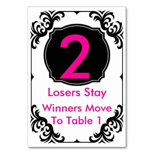 Bunco Table Card 2 Zazzle