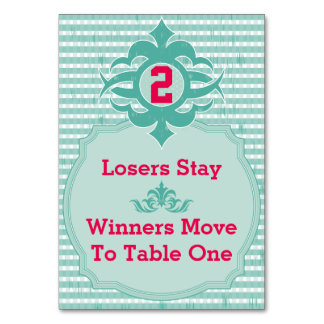 Bunco Table Card - Plaid #2