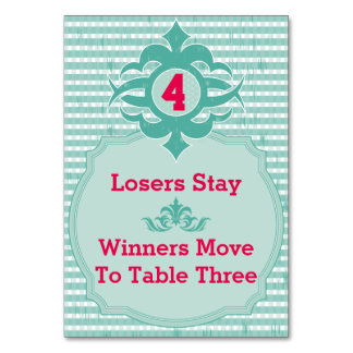 Bunco Table Card - Plaid #4