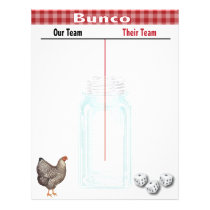 Bunco Tally Score Sheet Country Western Red Check