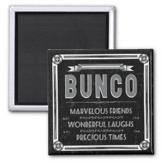 Bunco Vintage Typography 2 Inch Square Magnet