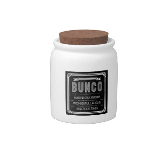 Bunco Vintage Typography Candy Jars