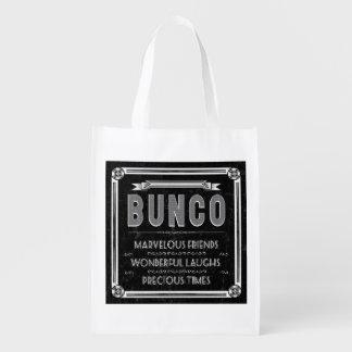 Bunco Vintage Typography Reusable Grocery Bag