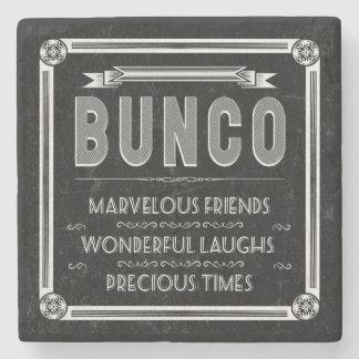 Bunco Vintage Typography Stone Coaster