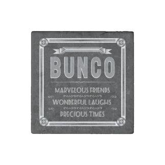 Bunco Vintage Typography Stone Magnet