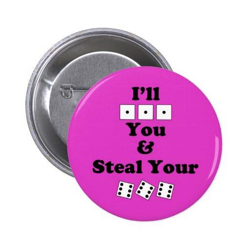 Bunco Warning Pinback Button