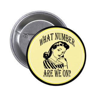Bunco What Number Are We On #2 Pinback Button