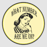 Bunco What Number Are We On #2 Classic Round Sticker