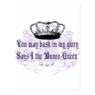 bunco - you may bask in my glory postcard