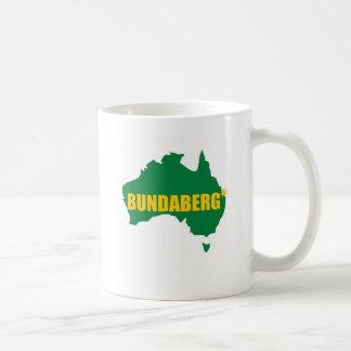 Bundaberg Green and Gold Map Coffee Mug