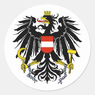 Bundesadler, Austria Classic Round Sticker