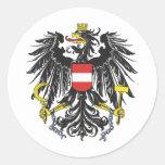 Bundesadler Austria Pegatina Redonda