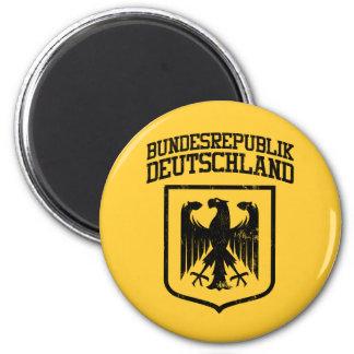 Bundesrepublik Deutschland/alemán Eagle Imán Redondo 5 Cm