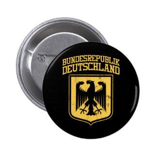 Bundesrepublik Deutschland/alemán Eagle Pin Redondo De 2 Pulgadas