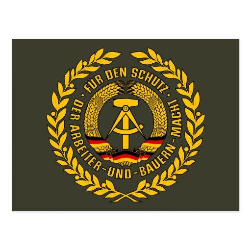 Bundesrepublik Deutschland / East Germany Crest Post Cards